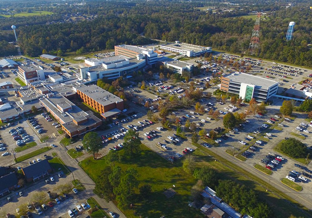 aerial view of North Oaks campus