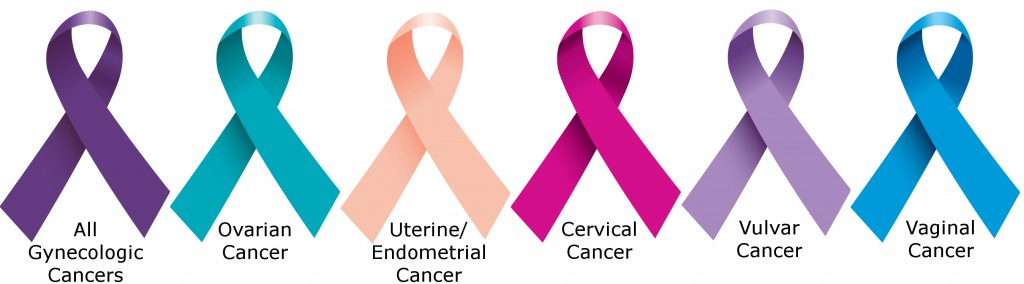 gynecologic cancer ribbons